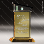 Crystal Gold Accented Vista Del Mar Trophy Award Gold Accented Crystal Awards