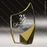 Crystal Gold Accented Trance Trophy Award Gold Accented Crystal Awards