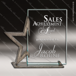 Glass Gold Accented Rectangle Star Headliner Alchemy Trophy Award Gold Accented Glass Awards