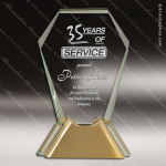 Jaycee Gem Glass Gold Accented Trophy Award Gold Accented Glass Awards