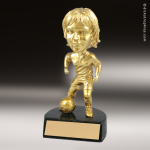 Resin Gold Bobble Head Series Soccer Trophy Award - Female Gold Bobble Head Resin Trophy Awards