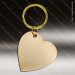 The Jafari Engraved Gold Brass Keychain Key Ring Heart Gold Brass Keychains
