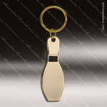 The Jafari Engraved Gold Brass Keychain Key Ring Bowling Pin Gold Brass Keychains
