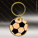 The Jafari Engraved Gold Brass Keychain Key Ring Soccer Ball Gold Brass Keychains