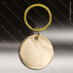 The Jafari Engraved Gold Brass Keychain Key Ring Round Circle Gold Brass Keychains