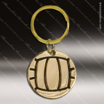 The Jafari Engraved Gold Brass Keychain Key Ring Volleyball Gold Brass Keychains