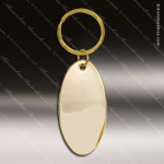 The Jafari Engraved Gold Brass Keychain Key Ring Oval Gold Brass Keychains