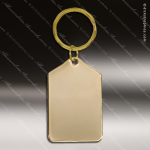 The Jafari Engraved Gold Brass Keychain Key Ring Rectangle Tablet Gold Brass Keychains