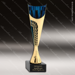 Cup Trophy Economy Gold Cone Blue Accented Modern Cup Award Gold Cup Trophy Awards