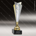 Cup Trophy Economy Gold Cone Silver Accented Modern Cup Award Gold Cup Trophy Awards