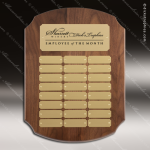 The Melrosa Walnut Perpetual Arch Plaque  24 Gold Plates Gold Plate Perpetual Plaques