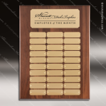 The Mercardo Walnut Perpetual Plaque  30 Gold Plates Gold Plate Perpetual Plaques