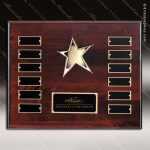 The Rebela Rosewood Perpetual Plaque  12 Black Plates Star Gold Plate Perpetual Plaques