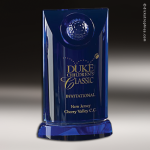 Crystal Sport Blue Accented Solstice Trophy Award Golf Awards