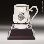 Nickel Golf Mug On Wood Base Golf Awards