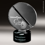 Crystal Black Accented Equinox Trophy Award Golf Awards