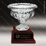 Crystal Cup Rosewood Accented Royal Glass Bowl Trophy Award Golf Cup Trophy Awards