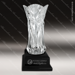 Crystal Cup Black Accented Royal Glass Vase Trophy Award Golf Cup Trophy Awards