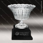 Crystal Cup Black Accented Royal Glass Bowl Trophy Award Golf Cup Trophy Awards