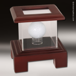Display Case Acrylic Wood Cherry Finish for Golf Ball Golf Gifts & Awards