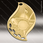 Medallion Gold Flame Series Golf Medal Golf Medals