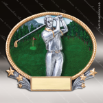 Kids Resin 3D Oval Series Golf Boys Trophy Awards Golf Trophy Awards