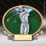Kids Resin 3D Oval Series Golf Girls Trophy Awards Golf Trophy Awards