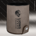 Embossed Etched Leather Dice Cup Set -Gray Gray Leather Items