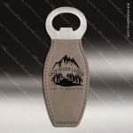 Embossed Etched Leather Magnetic Bottle Opener Gray Gift Gray Leather Items