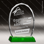 Crystal Green Accented Arch Jeweled Edge Trophy Award Green Accented Crystal Awards