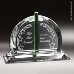 Crystal Green Accented Bellingham Trophy Award Green Accented Crystal Awards