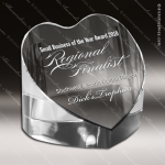 Crystal  Paperweight Heart Trophy Award Heart Shaped Crystal Awards