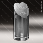 Crystal  Heart of a Champion Trophy Award Heart Shaped Crystal Awards