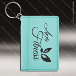 Laser Etched Engraved Keychain Leather ID Holder Gift Award ID Holder Keychains