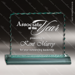 Acrylic  Jade Accented Cracked Ice Trophy Award Jade Acrylic Awards