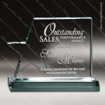 Acrylic  Jade Accented Star Page Trophy Award Jade Acrylic Awards