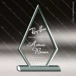 Acrylic  Jade Accented Triangle Arrowhead Trophy Award Jade Acrylic Awards