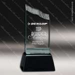 Acrylic Black Accented Jade Summit Trophy Award Jade Acrylic Awards