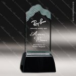 Acrylic Black Accented Jade Wave Trophy Award Jade Acrylic Awards