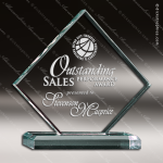 Acrylic  Jade Accented Diamond Award Jade Acrylic Awards