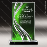 Acrylic Green Accented Illusion Series Rectangle Trophy Award Jade Acrylic Awards