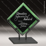 Acrylic Green Accented Acrylic Art Diamond Galaxy Trophy Award Jade Acrylic Awards
