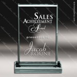 Acrylic  Jade Accented Rectangle Trophy Award Jade Acrylic Awards