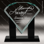 Acrylic Black Accented Jade Diamond Award Jade Acrylic Awards