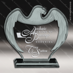 Acrylic  Jade Accented Corporate Eagle Trophy Award Jade Acrylic Awards