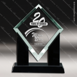 Acrylic Black Accented Jade Marquis Diamond Trophy Award Jade Acrylic Awards