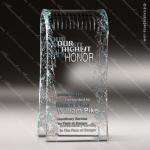 Glass Jade Accented Rectangle Arched Reflections Trophy Award Jade Glass Awards