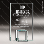 Glass Jade Accented Rectangle Support Trophy Award Jade Glass Awards