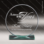 Mabus Circle Glass Jade Accented Trophy Award Jade Glass Awards