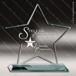 Mabus Star Glass Jade Accented Trophy Award Jade Glass Awards